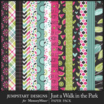 Just a Walk in the Park Pattern Paper Pack-$3.99 (Jumpstart Designs)