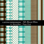 All About Him Paper Pack-$2.10 (Lasting Impressions)