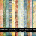 Where the Boys Are Grunge Paper Pack-$2.80 (Laura Burger)