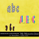 My Memories June Alphabet Pack-$2.99 (Laura Burger)