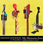 My Memories June Borders Pack-$4.99 (Laura Burger)