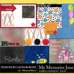 My Memories June Pocket Pieces-$3.99 (Laura Burger)