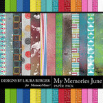 My Memories June Texture Paper Pack-$5.99 (Laura Burger)