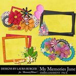 My Memories June Clusters Pack-$3.99 (Laura Burger)