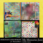 My Memories June Stacked Paper Pack-$4.99 (Laura Burger)