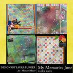 My Memories June Stacked Paper Pack-$4.99 (Laura Burger)