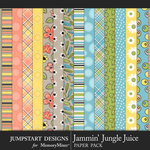 Jammin Jungle Juice Pattern Paper Pack 2-$3.99 (Jumpstart Designs)