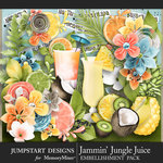 Jammin Jungle Juice Embellishment Pack-$5.99 (Jumpstart Designs)
