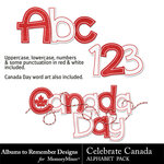 Celebrate Canada Alphabet Pack-$1.99 (Albums to Remember)