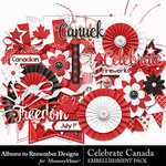 Celebrate Canada Embellishment Pack-$1.99 (Albums to Remember)