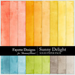 Sunny Delight Solid Paper Pack-$3.99 (Fayette Designs)
