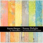 Sunny Delight Hotmess Blended Papers-$3.99 (Fayette Designs)