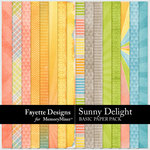 Sunny Delight Basic Paper Pack-$3.99 (Fayette Designs)