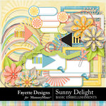Sunny Delight Basic Embellishments-$4.99 (Fayette Designs)