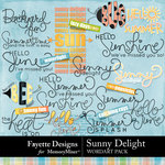 Sunny Delight WordArt Pack-$3.99 (Fayette Designs)