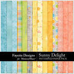 Sunny Delight Patterned Paper Pack-$3.99 (Fayette Designs)
