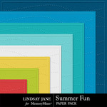 Summer Fun Embossed Paper Pack-$1.99 (Lindsay Jane)