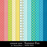 Summer Fun Pattern Paper Pack-$1.99 (Lindsay Jane)
