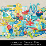 Summer Fun Embellishment Pack-$3.49 (Lindsay Jane)