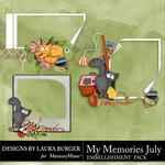 My Memories July Clusters Pack-$3.99 (Laura Burger)