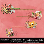 My Memories July Stitched Clusters Pack-$3.99 (Laura Burger)
