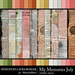 My Memories July Textured Paper Pack-$5.99 (Laura Burger)