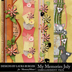 My Memories July Borders Pack-$4.99 (Laura Burger)