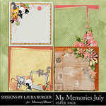 My Memories July Stacked Paper Pack-$4.99 (Laura Burger)