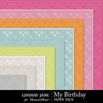 My Birthday Embossed Paper Pack-$1.99 (Lindsay Jane)