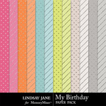 My Birthday Glitter Paper Pack-$1.99 (Lindsay Jane)