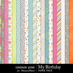 My Birthday Paper Pack-$2.49 (Lindsay Jane)
