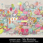 My Birthday Embellishment Pack-$3.49 (Lindsay Jane)