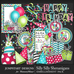 Silly Shenanigans Party Supplies Pack-$3.50 (Jumpstart Designs)