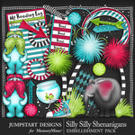 Silly Shenanigans Add On Embellishments-$2.80 (Jumpstart Designs)