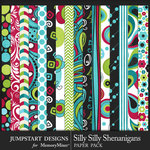 Silly Shenanigans Patterned Paper Pack-$3.99 (Jumpstart Designs)
