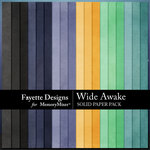 Wide Awake Solid Paper Pack-$3.99 (Fayette Designs)