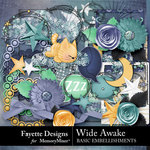 Wide Awake Basic Embellishment Pack-$2.80 (Fayette Designs)