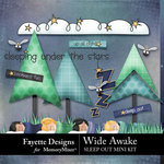 Wide Awake Sleep Out Mini Kit-$3.99 (Fayette Designs)