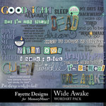 Wide Awake WordArt Pack-$2.80 (Fayette Designs)