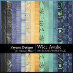 Wide Awake Patterned Paper Pack-$4.99 (Fayette Designs)