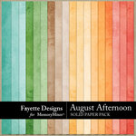 August Afternoon Solid Paper Pack-$3.99 (Fayette Designs)