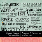 August Afternoon WordArt Pack-$3.49 (Fayette Designs)