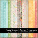 August Afternoon Patterned Papers-$4.99 (Fayette Designs)