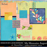My Memories August Pocket Pieces-$3.99 (Laura Burger)
