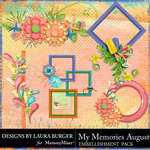 My Memories August Cluster Pack-$4.99 (Laura Burger)