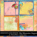 My Memories August Stacked Papers-$4.99 (Laura Burger)