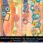 My Memories August Borders Pack-$4.99 (Laura Burger)