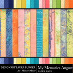 My Memories August Textured Papers-$5.99 (Laura Burger)