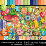 My Memories August Combo Pack-$7.99 (Laura Burger)