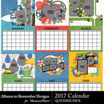 2017 Calendar ATR QuickPage QuickMix-$8.99 (Albums to Remember)